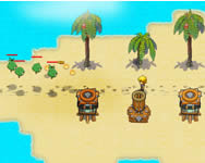 Castaway island tower defense online játék